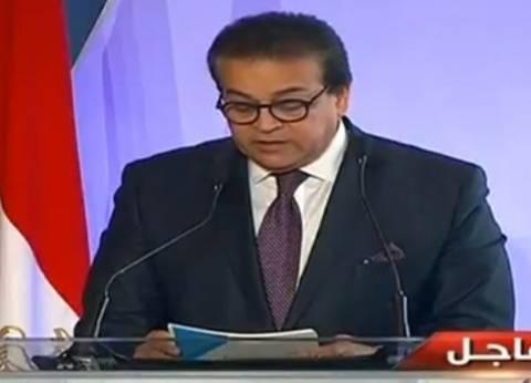 وزير التعليم العالي يصل حفل ختام مسابقة إبداع متأخرا