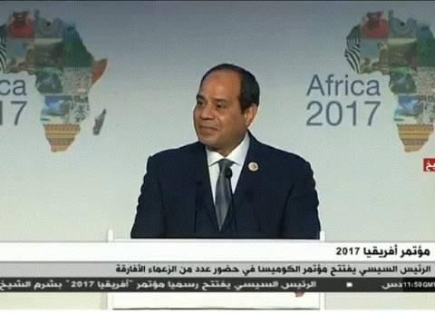 السيسي: نسعى لتطوير البنية الأساسية في إفريقيا لتنمية حركة التجارة