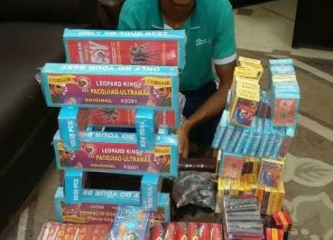 مصادرة 400 صاروخ وألعاب مجهولة المصدر في حملات تموينية بشوارع الغربية