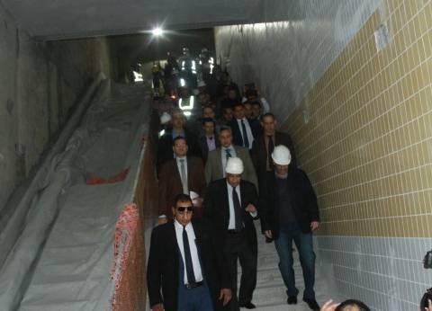 وزير النقل يتفقد أعمال تنفيذ المرحلة الرابعة من الخط الثالث للمترو