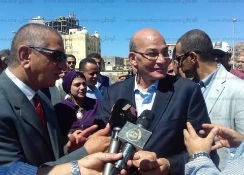 بالصور| وزير الزراعة ومحافظ كفر الشيخ يتفقدان كورنيش بحيرة البرلس