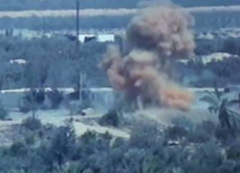 بالفيديو| القوات الجوية تستهدف بؤرا إرهابية في سيناء