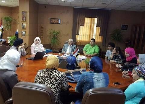 نائب رئيس جامعة المنصورة يبحث مع منظمات المجتمع المدني مناهضة التحرش