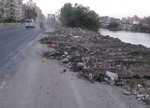 محافظ الدقهلية: رفع 70 طن قمامة ومخلفات هدم وبناء بنطاق شرق المنصورة
