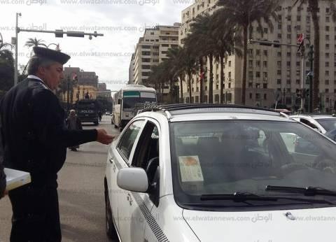 القيادات الأمنية تتفقد ميدان طلعت حرب والأماكن المحيطة به