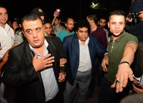 بالصور| أحمد عدوية وأكرم حسني وشيري عادل في عزاء جميل راتب
