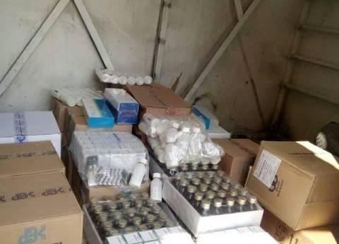 ضبط كميات من الأدوية المهربة جمركيا داخل مخزن في السلام