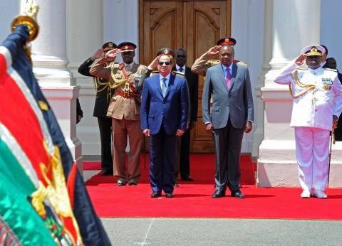 «السيسى» فى كينيا: نهتم بتعزيز التبادل التجارى بين البلدين والتعاون فى مواجهة الإرهاب