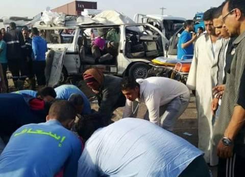 إصابة 5 أشخاص في تصادم سيارتين على طريق مطروح إسكندرية