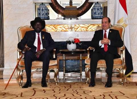 «السيسى» لـ«سلفا كير»: مستمرون فى دعم جنوب السودان