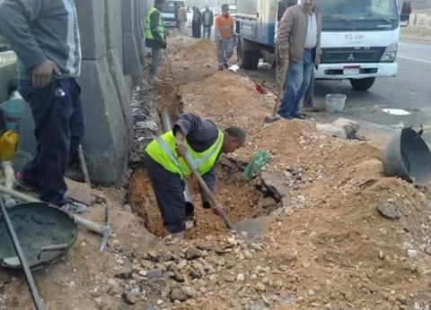 القاهرة: إنشاء 8 بالوعات بالطريق الدائري لإزالة تراكمات مياه الأمطار