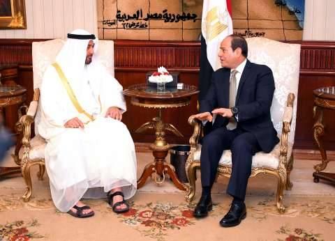 السيسي وبن زايد يؤكدان على رفض التدخل في شؤون الدول العربية