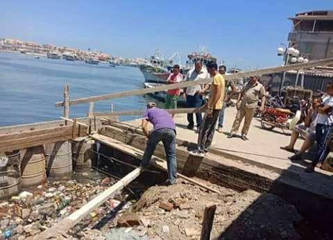 إزالة حالة تعد على نهر النيل بعزبة البرج