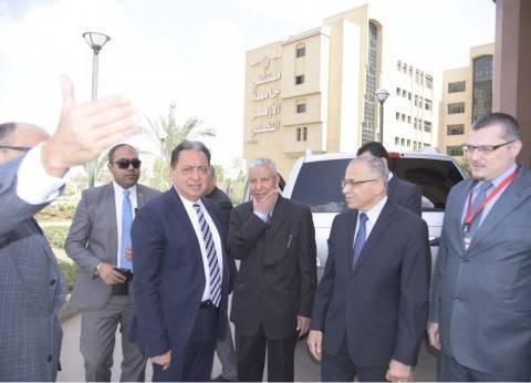 وزير الصحة يتفقد مستشفى جامعة الأزهر التخصصي