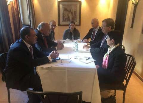 شكري يلتقي وفد اللجنة اليهودية الأمريكية على هامش مؤتمر ميونيخ للأمن