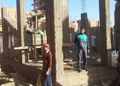وقف أعمال البناء لـ9 مبان مخالفة في مركز مغاغة بالمنيا