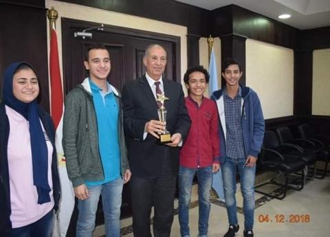 تكريم طلاب بالبحر الأحمر لحصولهم على أول الجمهورية في التفوق