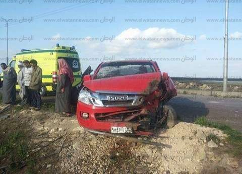 إصابة 14 شخصا في حادث سير ببني سويف