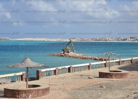 الغرابلى: لجنة فنية لمراجعة جدوى الألسنة الصناعية بشواطئ مطروح