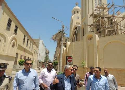 مدير أمن المنيا يتفقد إجراءات تأمين كنائس المحافظة