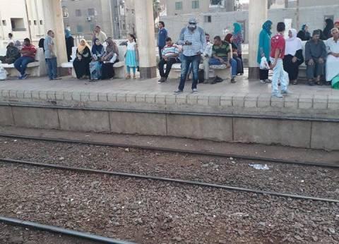 توقف حركة القطارات في بنها