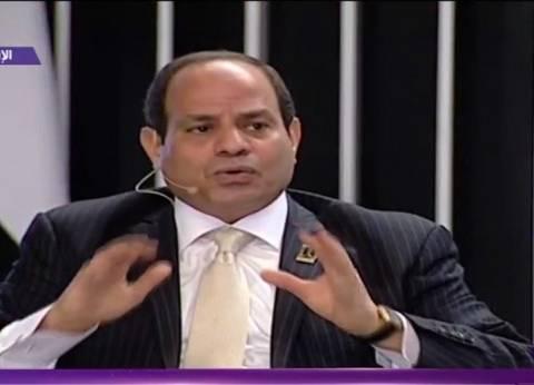 """السيسي لـ""""المصريين"""": الدولة العظيمة لا تأتي بسهولة"""