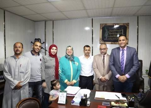 """سكرتير عام المنوفية يسلم جوائز الفائزين في سحب شهادات """"أمان"""""""