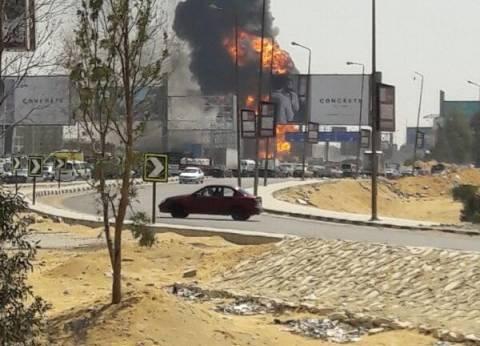 مدير أمن القاهرة ينتقل إلى موقع انفجار خط غاز التجمع الخامس