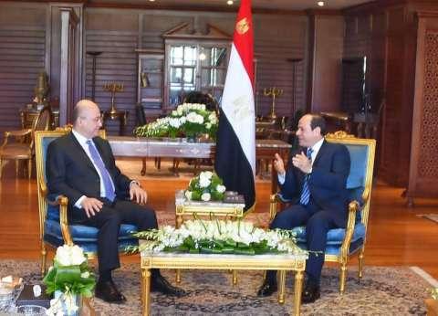 """الرئيس السيسي يلتقي رئيس العراق على هامش القمة """"العربية - الأوروبية"""""""
