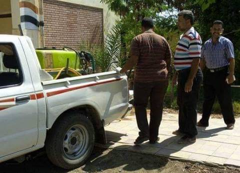مصادرة دقيق بلدي و100 لتر سولار ومبيدات زراعية في حملة بالغربية