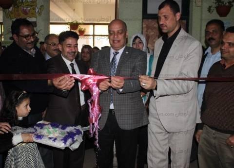 """""""تعليم الغربية"""" يفتتح معرض التربية الفنية للمشغولات واللوحات الفنية"""