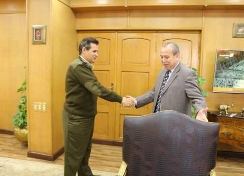 بالصور| محافظ دمياط يستقبل رئيس شرطة المرافق