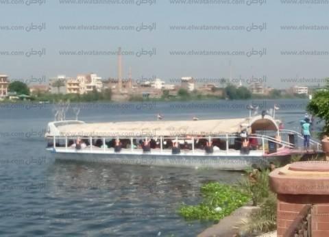 بالصور| مواطنون يقضون العيد بالتنزه في المراكب النيلية بكفر الشيخ