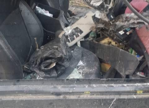بالصور| هبوط أرضي في موقع انفجار الإسكندرية