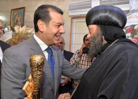 """محافظ أسيوط يشهد حفل تجليس """"الأنبا لوكاس"""" الواحد والثلاثون"""