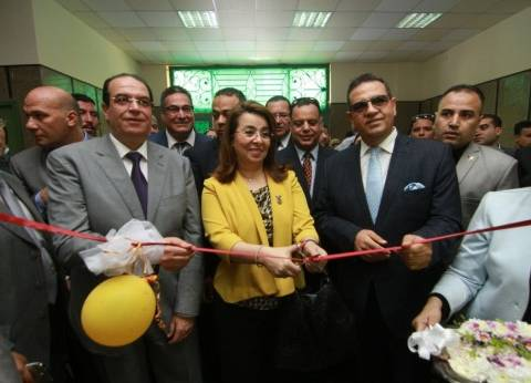 بالصور| وزيرة التضامن الاجتماعي تفتتح أول وحدة لعلاج الإدمان بجامعة المنصورة