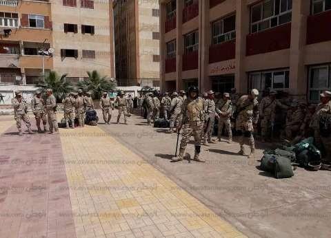 قوات التأمين تتسلم المقار الانتخابية للاستفتاء على الدستور بكفر الشيخ