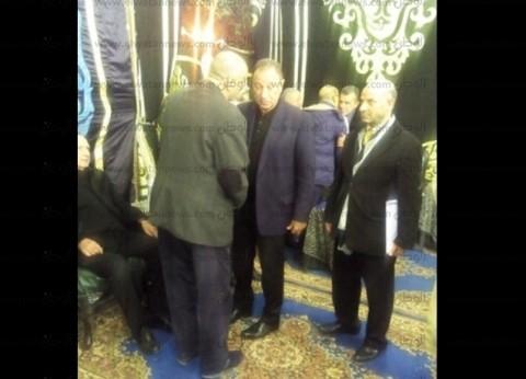 الخطيب يستقبل المعزين في وفاة الراحل خالد توحيد