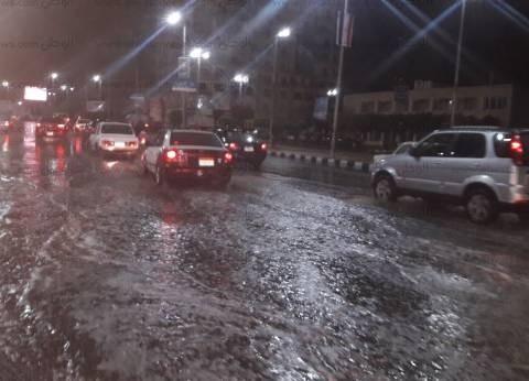 بالصور  هطول أمطار غزيرة على كافة أنحاء محافظة الدقهلية