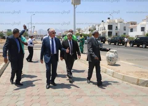 بالصور| محافظ جنوب سيناء يتفقد أعمال تجميل طريقي السلام وشهد