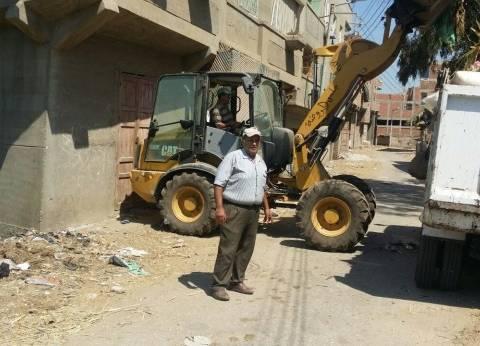 بالصور| حملة نظافة بمدينة الروضة في دمياط خلال رابع أيام العيد