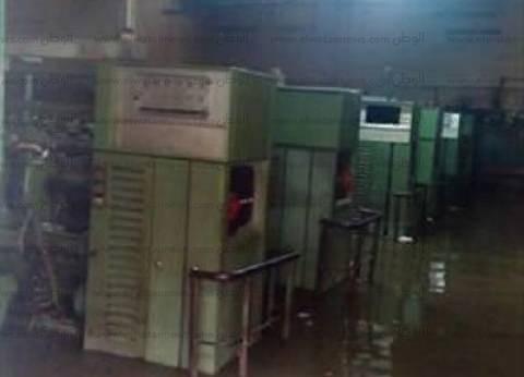 بالصور| غرق شركة غزل كفرالدوار.. ومياه الأمطار تصل لمعدات الغزل