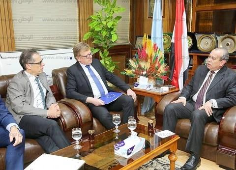 بالصور| محافظ كفر الشيخ يستقبل سفيري ألمانيا وسويسرا