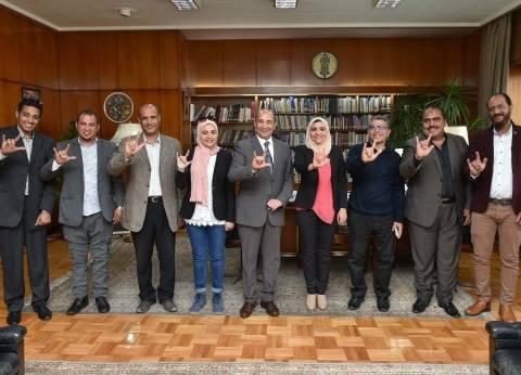"""""""الأهرام"""" تطلق أول وحدة نوعية لدعم مشاركة الصم والبكم في الانتخابات"""