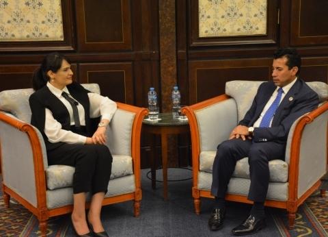 وزير الشباب لنظيرته التونسية: حريصون على تعميق أواصر التعاون معكم