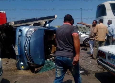 بالصور| مصرع وإصابة 6 أشخاص بحادث تصادم غرب الإسكندرية