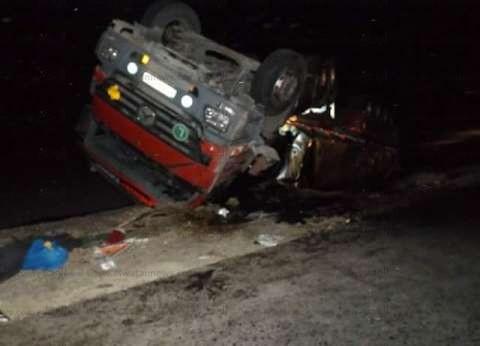 عاجل| انقلاب حافلة نقل مواد بترولية محملة بـ 5 أطنان زيت خام في الفيوم