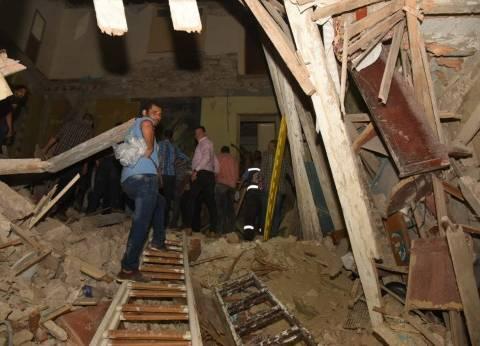 مصدر أمني: لا يوجد إصابات في انهيار عقار حدائق القبة
