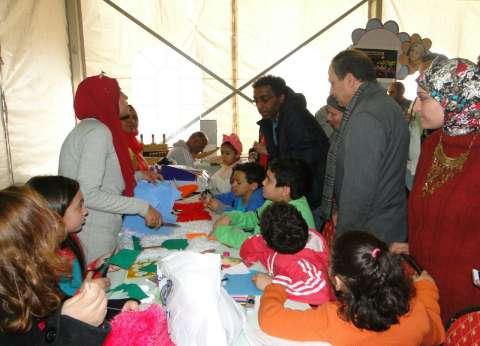 بالصور| في ثاني أيام معرض الكتاب.. ورش وفنون وإقبال كبير للأطفال