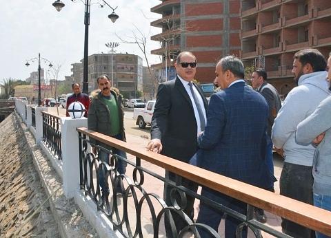 بالصور| محافظ الغربية يتفقد أعمال شارع 306 وتطوير كورنيش ترعة القاصد